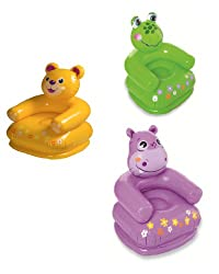 Intex Inflatable PVC Animal Chair (Color May Vary)
