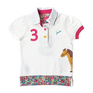 Joules - Girls S/s Polo Shirt Creme (JnrMoxie): 8-9 Y (128)