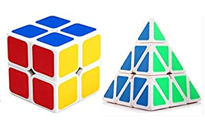 WayIn® Magic Cube Set Speed Cube Collection- 2x2x2 and Pyraminx