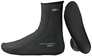 NeoSport Wetsuits XSPAN 1.5mm Sock,Black,Large