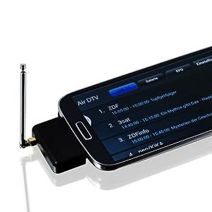 CSL - mini DVB-T Stick | Receiver/Tuner | DVB-T Empfänger für Android Geräte | micro USB Schnittstelle | Arcsoft Total Media & AIR DTV | Smartphone / Tablet / PC / Notebook | Samsung / Sony / HTC / Motorola / LG / NEXUS