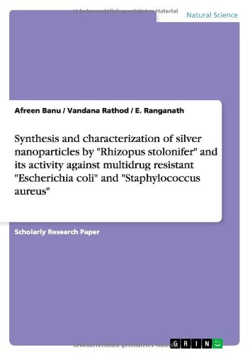 Synthesis And Characterization Of Silver Nanoparticles By Rhizopus Stolonifer And Its Activity Against Multidrug Resistant Escherichia Coli And S