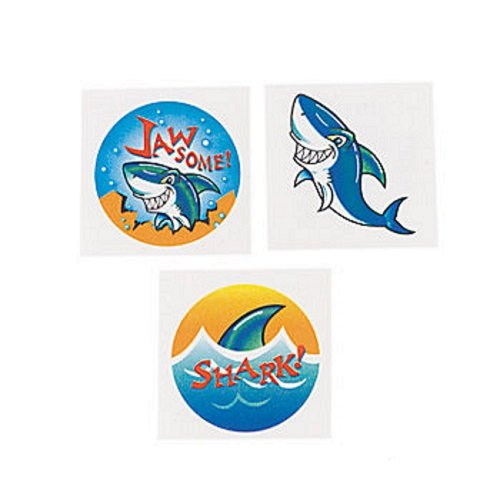 "72 ~ Shark Temporary Tattoos ~ Approx. 1.5"" ~ New"