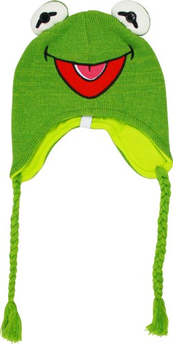 Men Hats Caps Costumes  Muppets Kermit The Frog Knit Peruvian Beanie Hat 798abc3dfbf