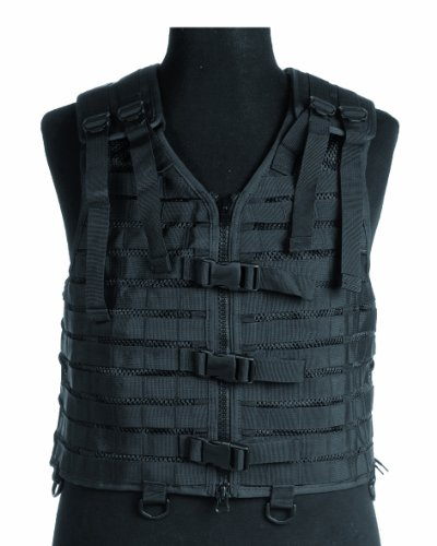 Military Tactical Carrier MOLLE Vest PALS Modular System Airsoft Webbing black