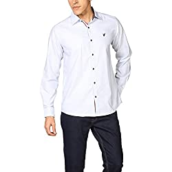 Provogue Men's Casual Shirt (8903522452130_103680-BL-247_Medium_Sky)