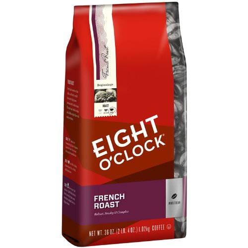 Eight O'Clock French Roast Whole Bean Coffee,