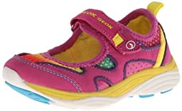Geox Emy Mary Jane Sneaker (Toddler/Little Kid/Big Kid),Fuchsia,27 EU (10 M US Toddler)