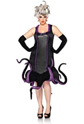 Leg Avenue Costumes Disney Plus-Size Ursula Velvet Dress with Tentacle Skirt