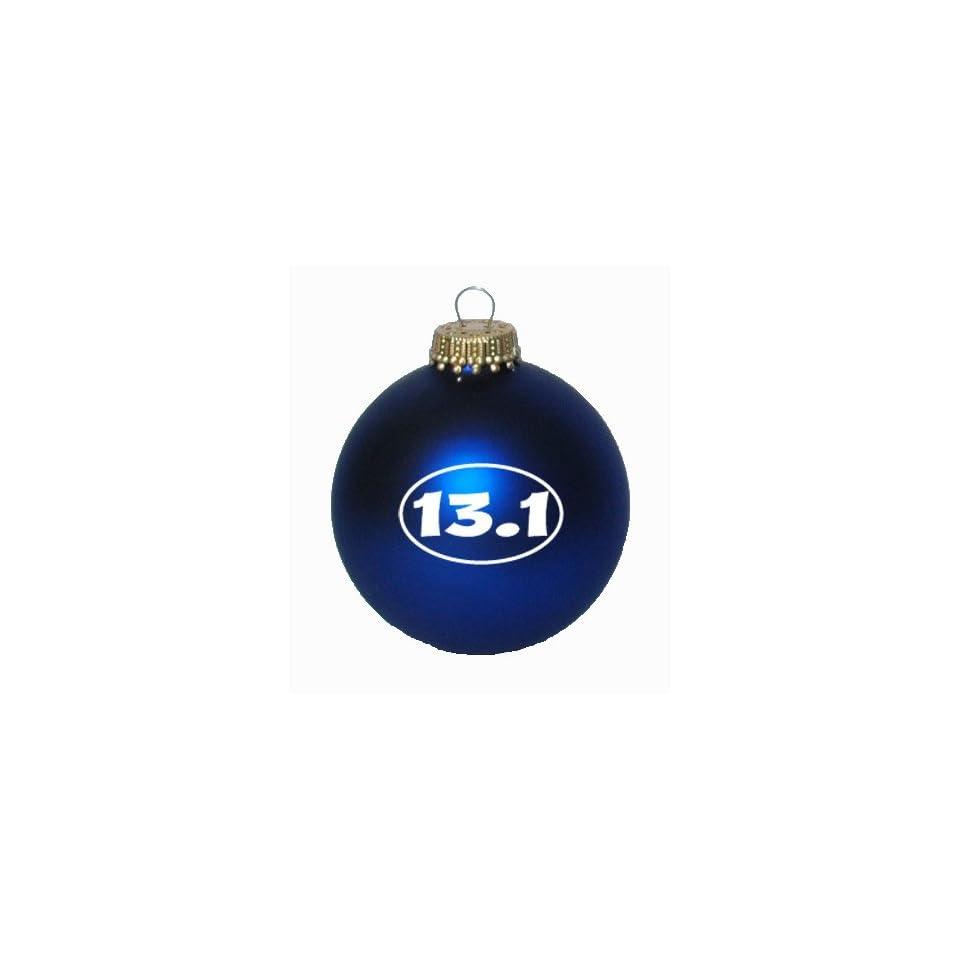 13.1 Oval Christmas Ornament (Royal Velvet Blue)