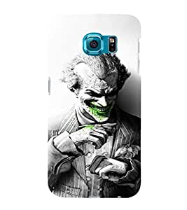 EPICCASE Joker Laugh BW Mobile Back Case Cover For Samsung Galaxy S6 Edge Plus (Designer Case)