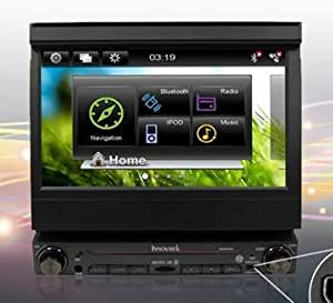 """Innovatek IN-W7GPS In-Dash 7"""" Digital Flip out Touch Screen Single Din WiFi 3G CAR Radio GPS Multimedia Player with Bluetooth, frontal USB, SD and 3.5mm AUX inputs. Comes with 8GB Micro SD and USB internet adapter."""
