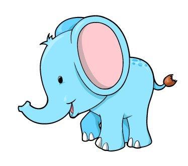 Baby Blue Elephant Cartoon