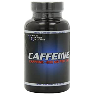 Serious Nutrition Solution Caffeine Tablets, 200mg, 240-Count images