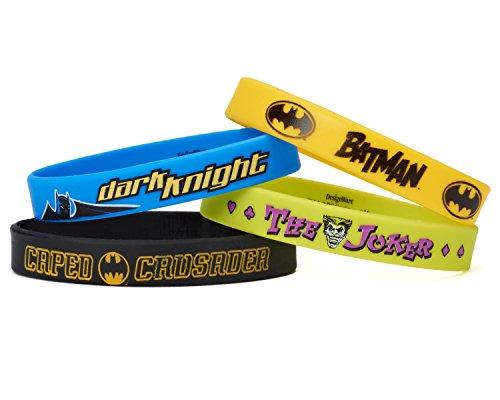 American Greetings Batman Rubber Bracelets, 4 Count, Party Supplies, Multicolor