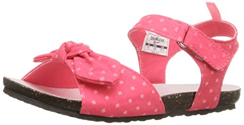 OshKosh B'Gosh Perla-G Bow Front Fashion Sandal (Toddler/Little Kid), Pink, 10 M US Toddler