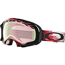 Oakley Splice Hyper Drive Adult Asian Fit Winter Sport Snowmobile Goggles Eyewear - Red-Black/VR50 Pink Iridium / One Size Fits All