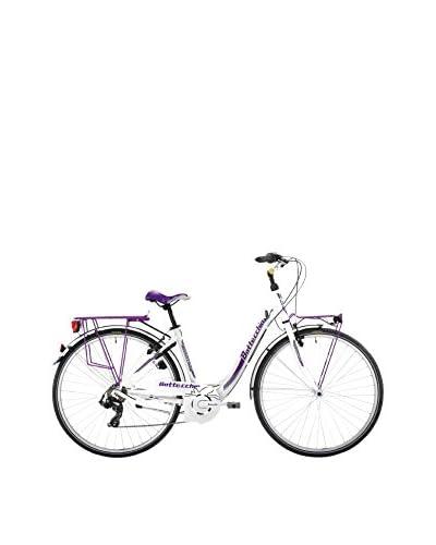 BOTTECCHIA Bicicleta 28″ Trk Monotubo Tx55 7S D H48 C48  Blanco / Morado