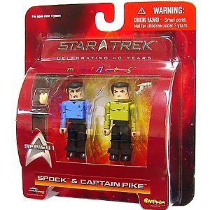 Star Trek The Original Series Diamond Select Toys Minimates Series 1 2-Pack Spock & Captain Pike