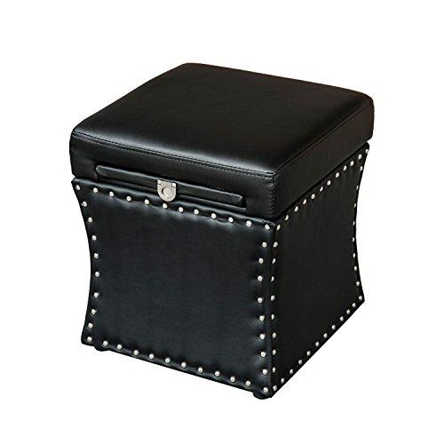Black 02-0618 Homcom Foldable Padded Foam W Plywood Frame Storage Seat W Table Drawer Board