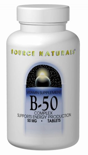 Source Naturals B-50 Complex, 50 Tablets (Pack Of 2)