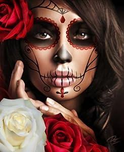Amazon.com: Raquel by Daniel Esparza Mexican Woman Sugar Skull Death