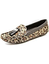 Vince Camuto Women S Piercee Flat Shoes In Camo Suede Multi Grey/Black P. Leopard 7.5 B(M) US