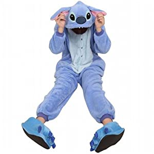 Amour - Sleepsuit Pajamas Costume Cosplay Homewear Lounge Wear (S, Blue Stitch)