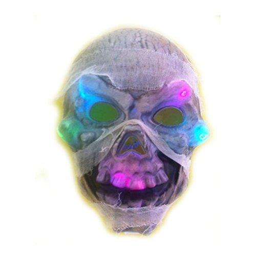[Led Flashing Skull Mask Skeleton Halloween Rave Party Favor] (Main Street Dance Costumes)