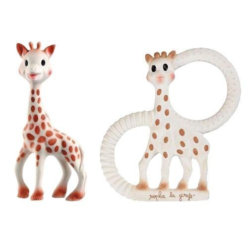Vulli Sophie The Giraffe Teether Toy Set - (Includes The Original Sophie + New Sophie The Giraffe Vanilla Teething Ring) - 1