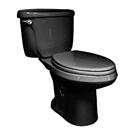 American Standard 3109.016.178 Cadet Right Height 16-1/2-Inch Elongated Pressure Assist Toilet Bowl, Black (Bowl Only)