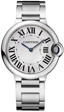 Cartier Unisex Ballon Bleu De Cartier Steel Bracelet & Case Quartz Silver-Tone Dial Analog Watch W69011Z4