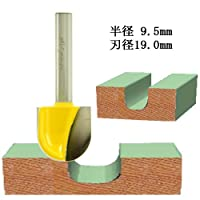 dm12730 丸溝1/4(刃径19mm)・トリマービットMicrotungsten carbide