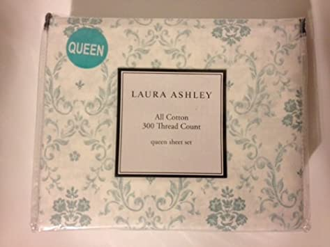 Nice Laura Ashley Moira Queen Sheet Set All Cotton Thread Count