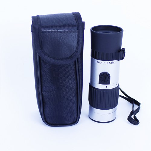 15X - 55X Zoom 21Mm Compact Monocular Mini Pocket Monocular Telescope For Camping Hiking Hunting