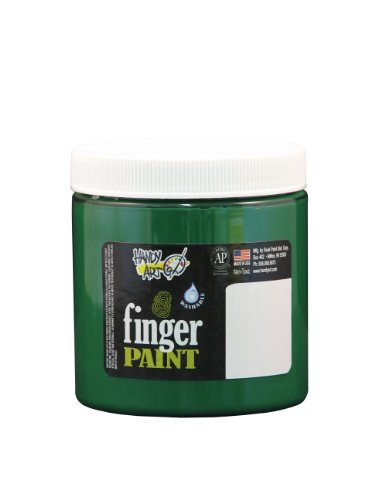 Handy Art by Rock Paint 246-045 Washable Finger Paint, 1, Green, 8-Ounce - 1