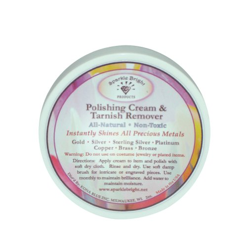 Sparkle Bright Products All-Natural Jewelry Cleaner | Tarnish Remover & Polishing Cream - 2 oz.