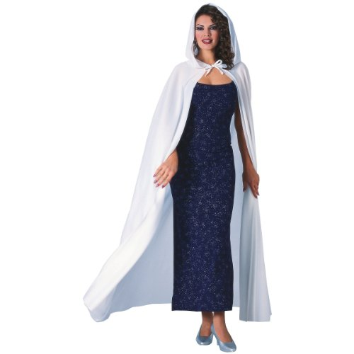 Rubies Costume Co Women's Full Length Hooded Cape White One Size