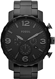 Fossil Watches, Men's Nate Chronograph Stainless Steel Watch - Black