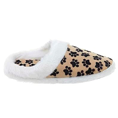 Paw Print Slippers for Women XL/9.5-10.5