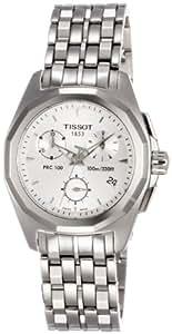 Tissot Men's T0082171103100 PRC100 Silver Chronograph Dial Watch