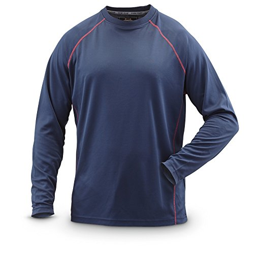 Guide Gear Long-Sleeved Performance Crew, Navy, 2Xl
