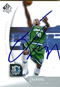 Jason Terry Autographed Hand Signed Basketball Card (Dallas Mavericks) 2005 Upper... by Hall of Fame Memorabilia