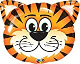 "TIGER Stripes Orange Black Jungle ZOO Head 30"" Party ANIMAL Mylar Foil BALLOON"