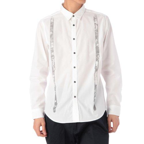 (ボイコット)BOYCOTT トロンプルイユプリントシャツ ホワイト系(101) 02(M)