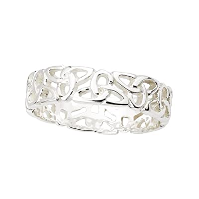 Celtic Knot Band Sterling Silver - Irish Made