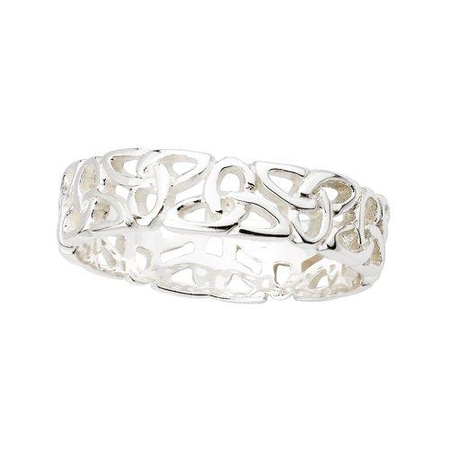 Trinity-Knot-Band-Sterling-Silver-Sz-4-10-Irish-Made