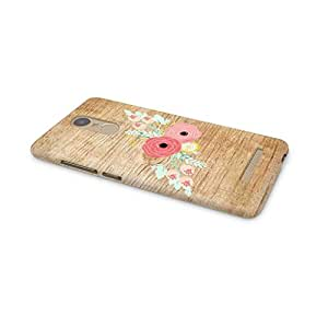 Cover Affair Wood / Flower Printed Back Cover Case for Xiaomi Redmi Note 3
