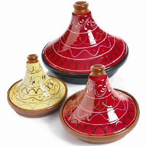 Spanish Terracotta Tagine With Red Hand Painted Lid 20cm from Regas