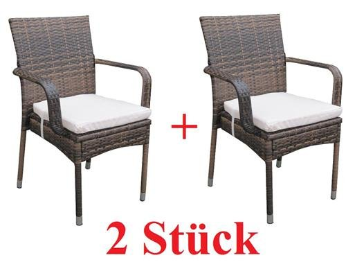 2 x rattan sessel stuhl st hle gartenm bel rattansessel rattanst hle rattanstuhl rattanm bel. Black Bedroom Furniture Sets. Home Design Ideas